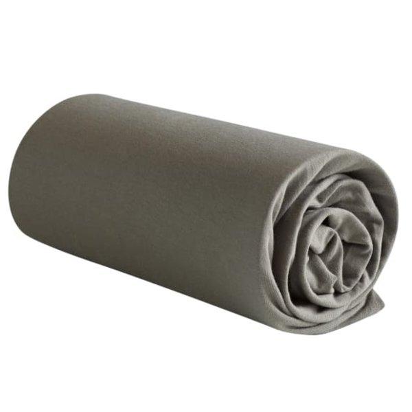Jersey hoeslaken Case steeply grey matrashoogte t/m 22 cm
