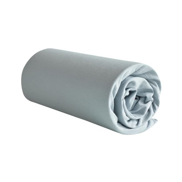 Jersey hoeslaken Case ice blue matrashoogte t/m 22 cm