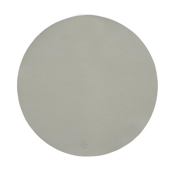 Jazz beton lederlook ronde placemats