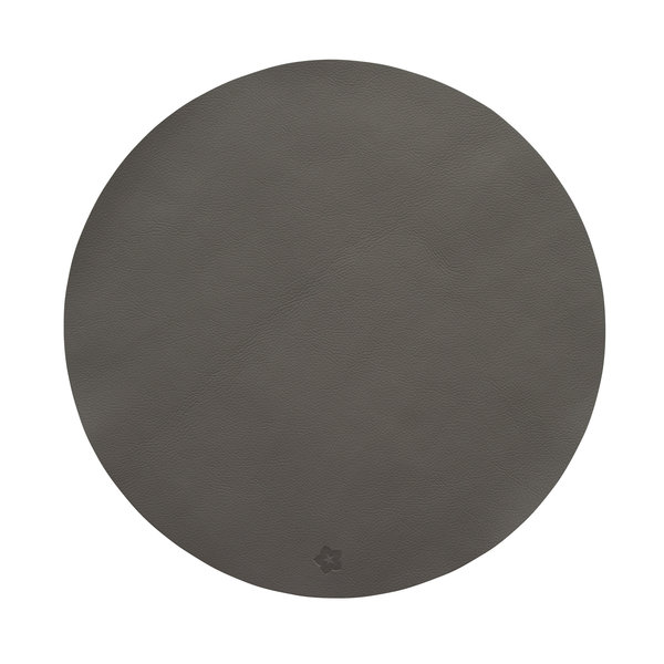 Jazz graphit lederlook ronde placemats