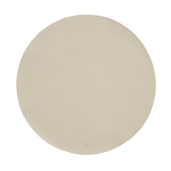 Jazz sand lederlook ronde placemats