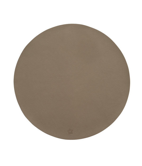 Pichler Jazz taupe lederlook ronde placemats
