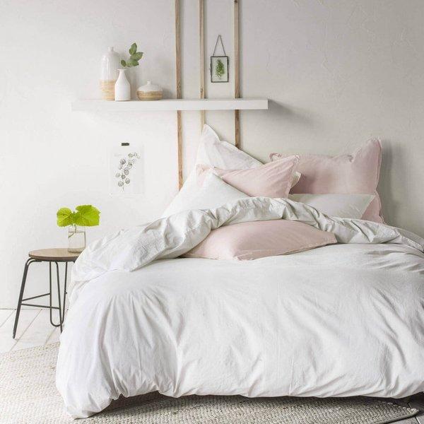 - Softline blanc, stonewashed katoen 200TC