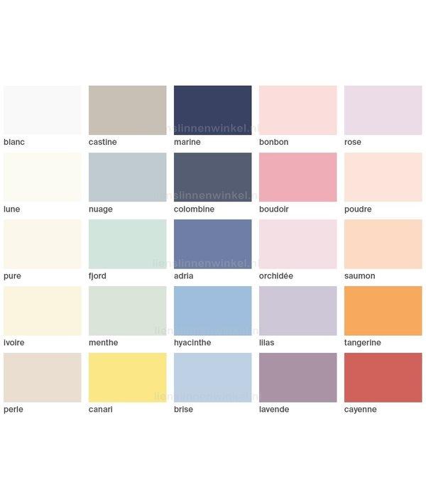 Schlossberg Uni Noblesse kussensloop Zwitsers satijn in diverse kleuren (270 TC)