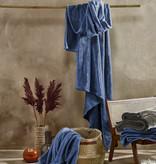 De Witte Lietaer Cosy plaid blue indigo
