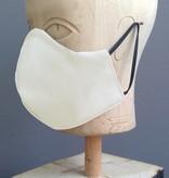 Pichler Mondkapje 2-laags roomwit - creme met neusbrug