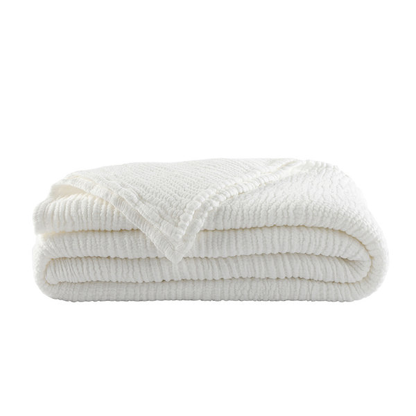 Caresse plaid blanc (wit)