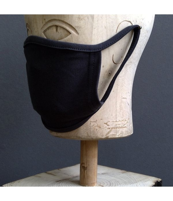 Pichler Mondkapje jersey zwart