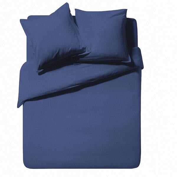 - Softline bleu nuit, stonewashed katoen 200TC