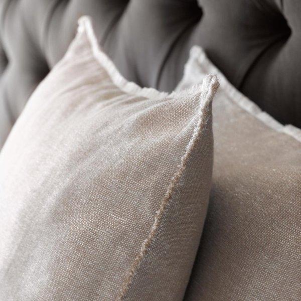 - Amarela sierkussenhoes en plaid zilver