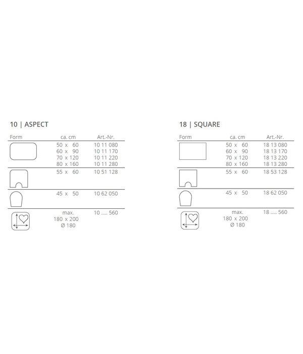 Rhomtuft Aspect of Square badmatten (maatwerk)