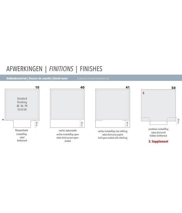 Mirabel Slabbinck Nama met uw eigen namen of tekst in 100% linnen kwaliteit, Riana