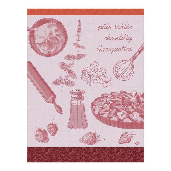 Droogdoek Recettes tarte aux fraises pink