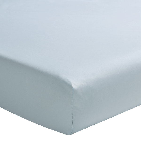 hoeslaken 200TC bleu glacier, matras tot 20 cm hoog, vanaf