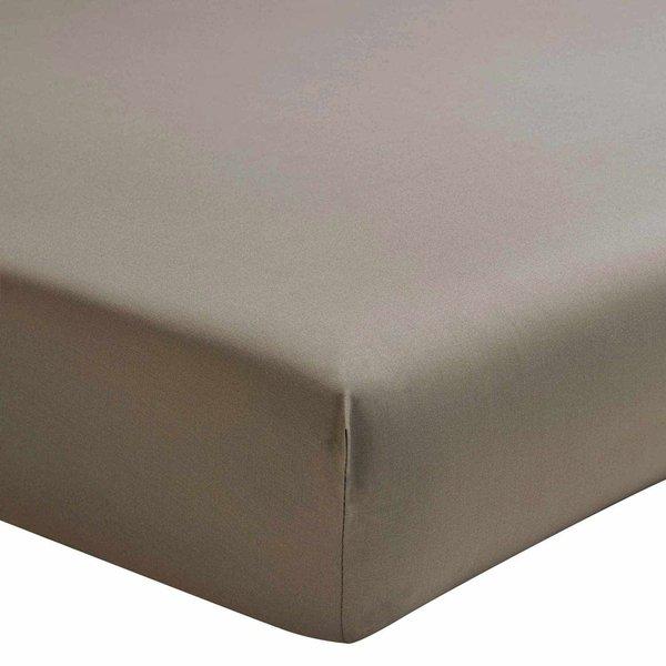 hoeslaken 200TC taupe, matras tot 40 cm hoog, vanaf