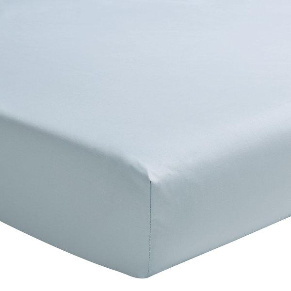 hoeslaken 200TC bleu glacier, matras tot 40 cm hoog, vanaf