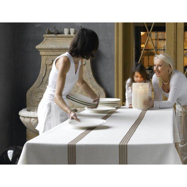 Bambou tafellinnen in Carum stof