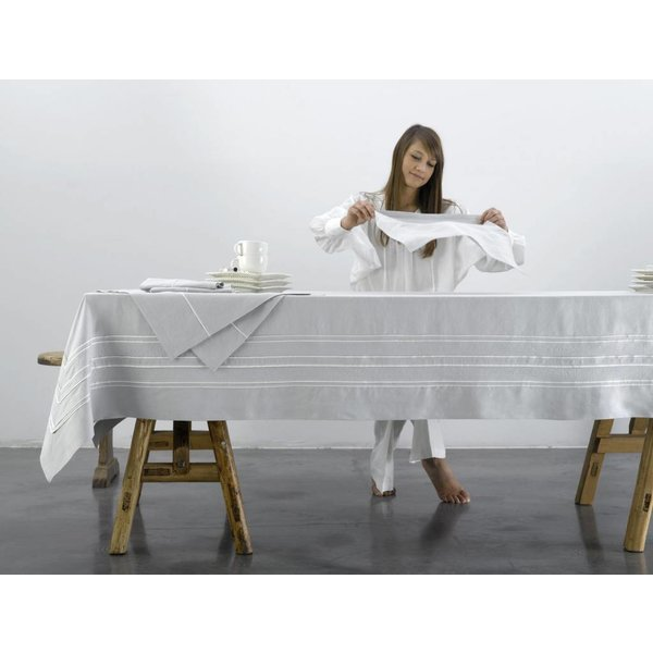 Quelea tafellinnen katoen (Cadas stof)