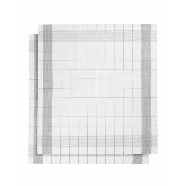 droogdoek mixte halflinnen grey