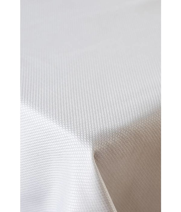De Witte Lietaer Kalahari wit, damast tafellinnen