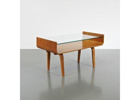 Glass side table by Den Boer Gouda.