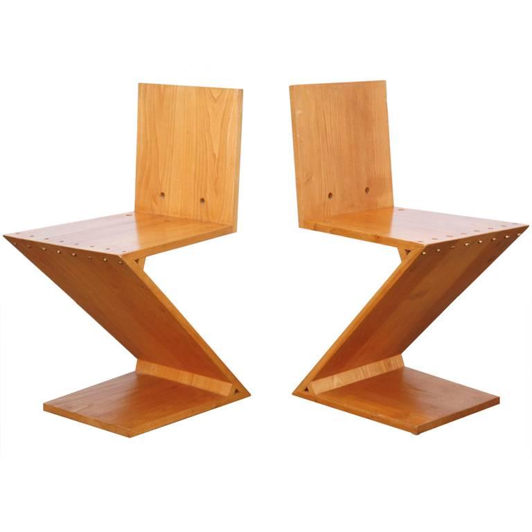 Gerrit TH. Rietveld ZigZag Chairs