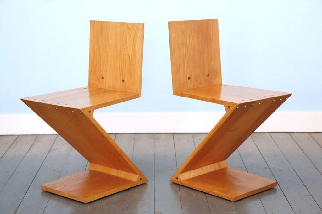 Stoel Gerrit Rietveld : Gerrit th rietveld zigzag stoelen wonderwood