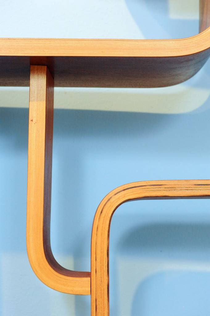Tjechische Roomdivider Vintage Plywood