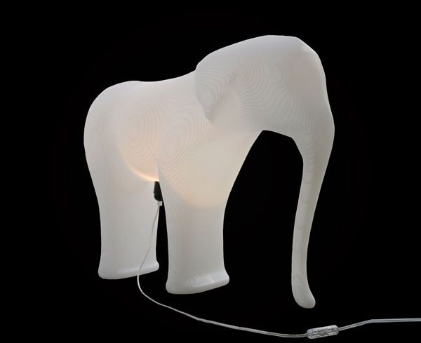 Low-res elephant kruk / lamp door Richard Hutten