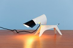 DOG LAMP BY BORIS LACROIX FOR DISDEROT, 1950'S