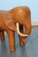 Fabulous Vintage Leather Elephant Footstool By Dimitri Omersa Forskolin Free Trial Chair Design Images Forskolin Free Trialorg