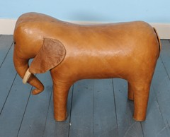 Marvelous Vintage Leather Elephant Footstool By Dimitri Omersa Forskolin Free Trial Chair Design Images Forskolin Free Trialorg