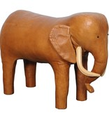 Vintage Leather Elephant Footstool by Dimitri Omersa