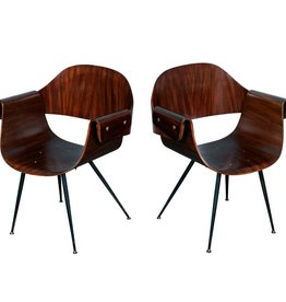 Ratti Rosewood Plywood Chair with Armrests