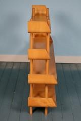 Rare teak plywood shelving by Wilhelm Lutjens for De Boer Gouda