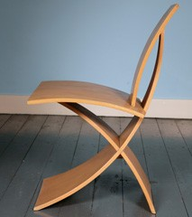 Signed prototype chair by Samuel Chan