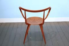 Pretzel stoel met armleuningen door George Nelson