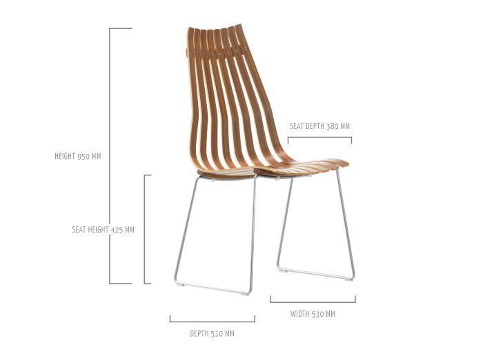 SCANDIA PRINCE dining chair by Hans Brattrud