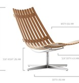 SCANDIA NETT SWIVEL Lounge chair by Hans Brattrud