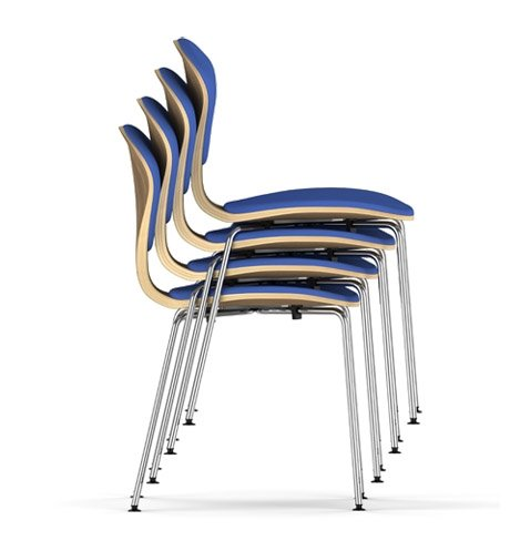 Cherner METAL BASE STACKABLE SIDE CHAIR