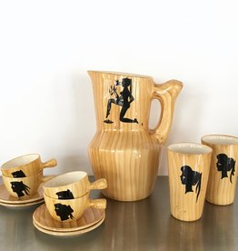 GRANDJEAN JOURDAN VALLAURIS | 'FAUX BOIS' SERVIES
