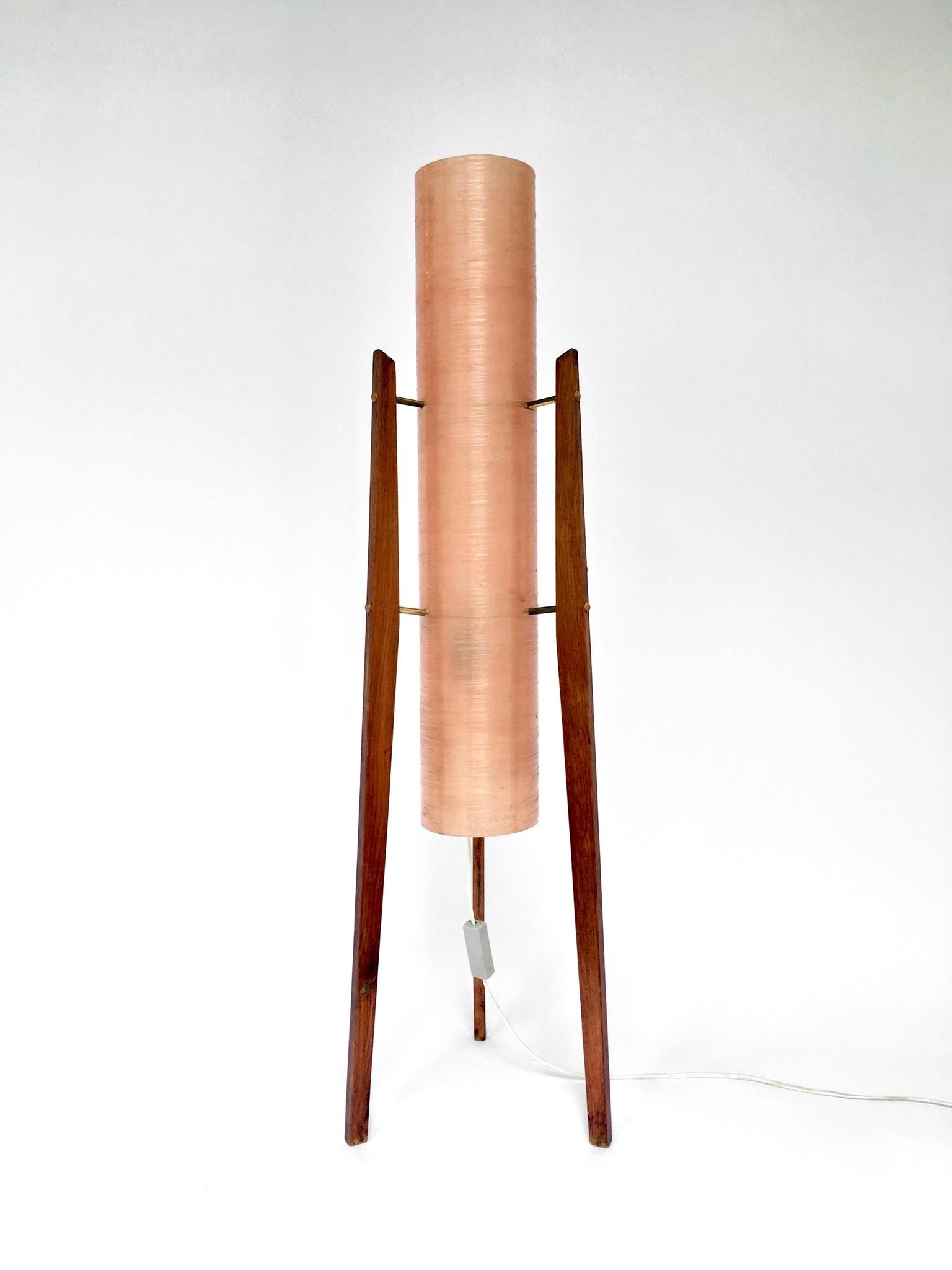 Fiberglass Rocket lamp