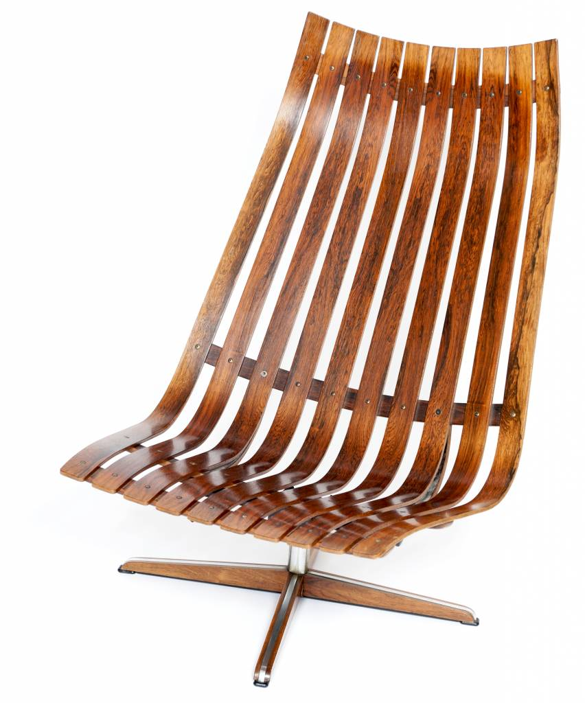 Vintage Plywood Hans Brattrud Senior Lounge Stoel