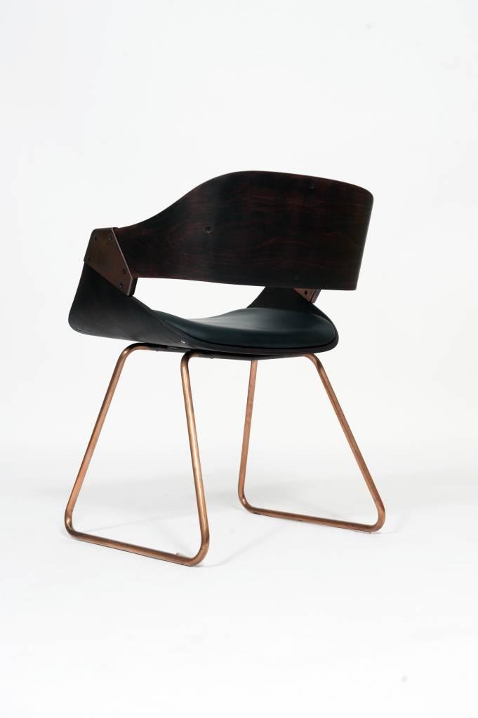 Vintage Plywood Rudi Verelst Eetkamer Stoelen