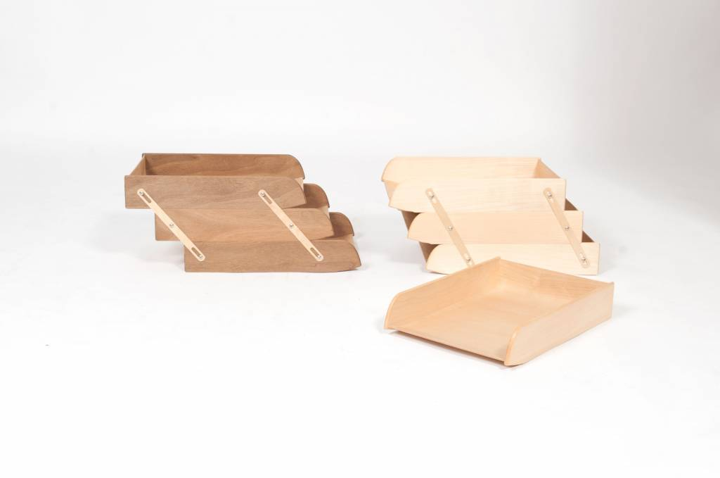 WOODEN STACKABLE TRAY FILES