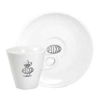 Caffè Mike 6x B/W - Espresso Kopjes (Cup & Saucer)