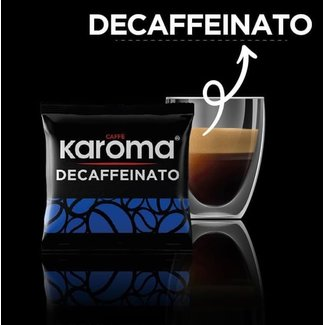 Caffè Karoma Decaf ESE Pods, 100 pieces