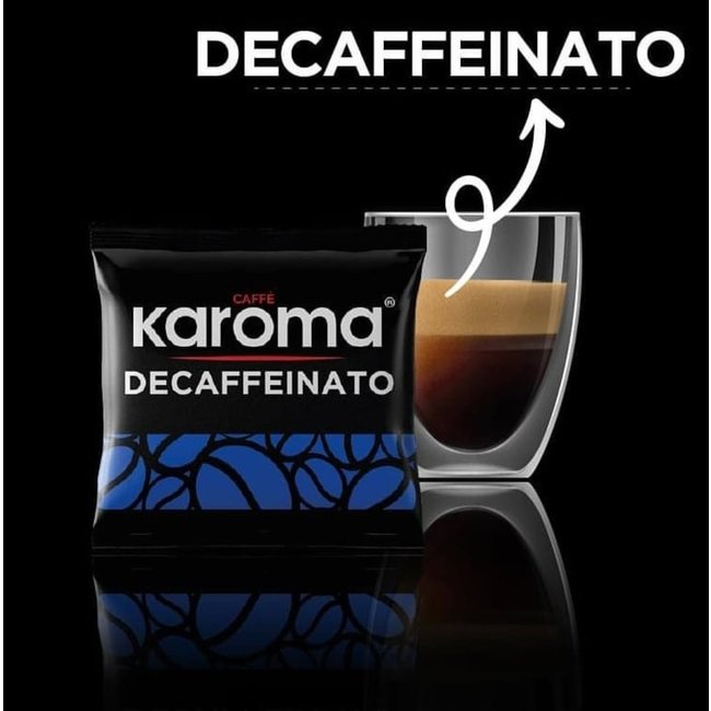 Caffè Karoma Decaffeinato | Top Decaf  | 100 pieces