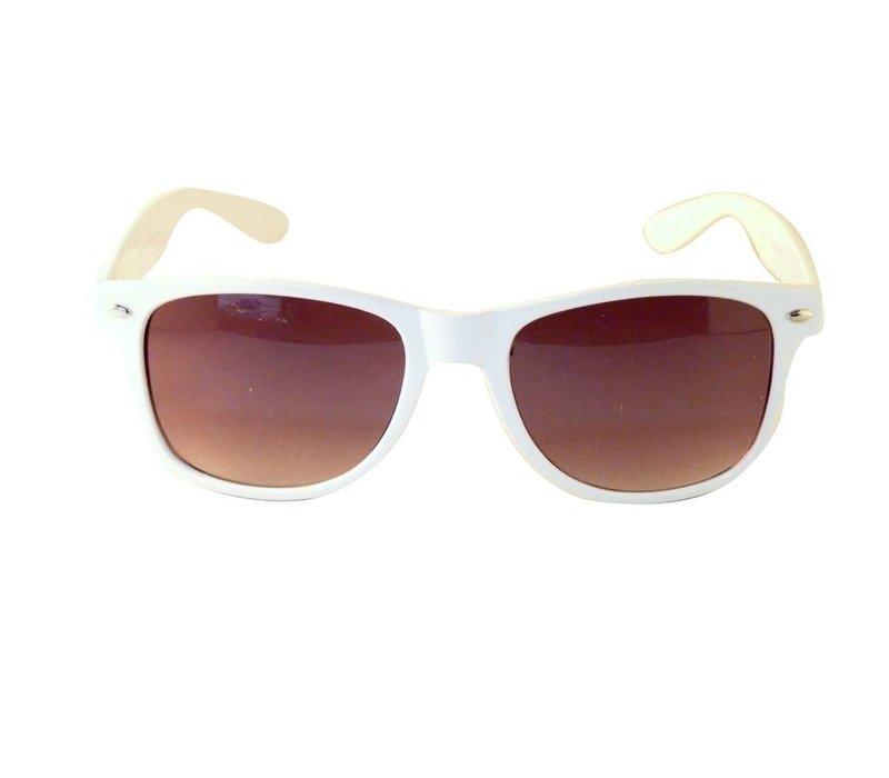 Witte Zonnebril - Retro Way Sun