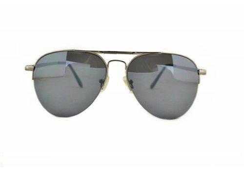 BK Zilveren Pilotenbril met grijze glazen - Climax